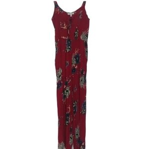 Patrons of Peace Red Floral Jumpsuit